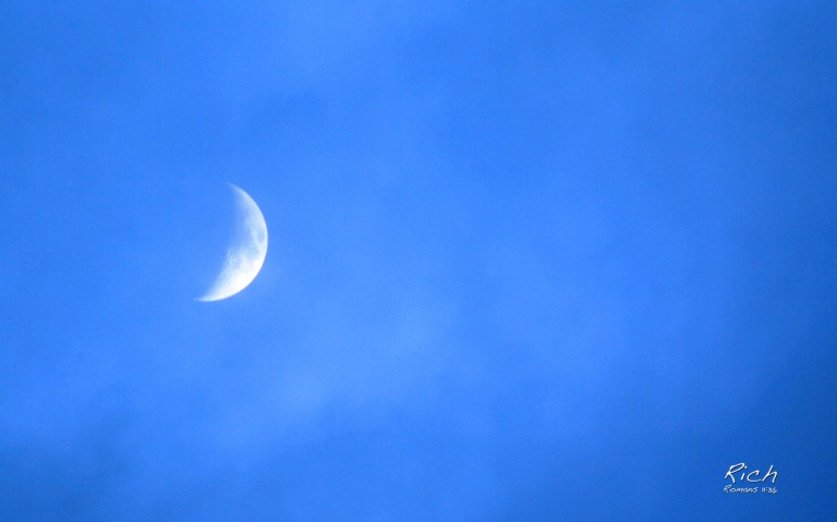 Crescent Moon Overhead