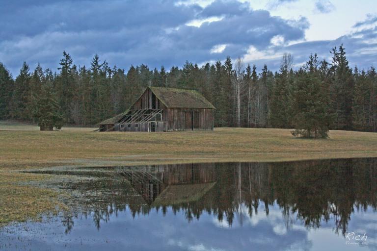 Old Barn Reflection